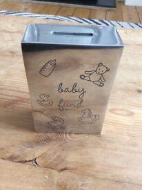 Bombay Duck aluminium engraved baby fund money box
