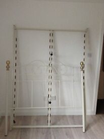 Next Double Bed Frame - Beautiful cream ornate