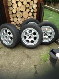 For sale 2005 mini alloy wheels /tires x 4 £120