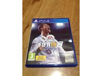 FIFA 18 ps4 game in perfect working order
