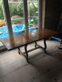 Large pull out table 6ft by 3ft