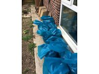 Hardcore 20 sacks Free...Mainly garden pebbles after makeover
