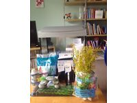 Superfish 40L fish tank with Aqua gravel, combi-heater, filter, thermometer all unused.
