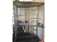 Parrot cage and play stand