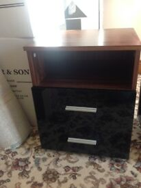 bedside table with 2 drawers.