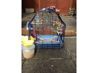 Bird cage for sale with all accessories for budgie