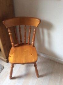 Pine wooden chair