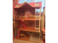 Beautiful Extra Large Dolls House / Mansion, Wooden, 3 Floors, Low Use