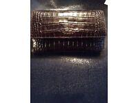 New brown crocodile purse