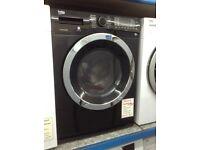 Beko black washer dryer. 8kg 5kg new/graded 12 month Gtee