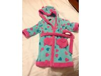 Girls 12-18mths dressing gown - boots mini club.
