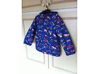 Joules blue Right As Rain boys Jacket/Coat 7 years old