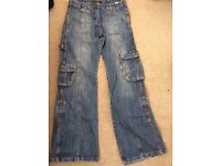 Ladies Jeans - Dorothy Perkins size10 and top shop size 8