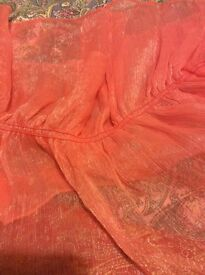 SHAWL, STOLE, ORANGE, USED ONCE SO IN GREAT CONDITION.