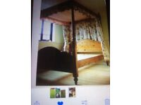 King Size Four Poster Bed Frame Soft Wood