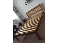 Double bed wood frame with or without mattress.
