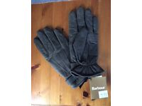 Brand new Barbour leather gloves, never worn