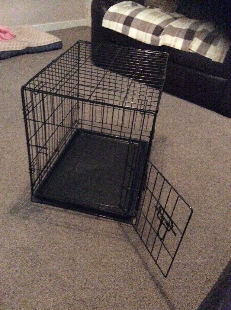 Dog Crate (small) with mat & cover