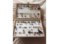 Box of fishing flys