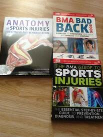 Study books anatomy sports injuries etc
