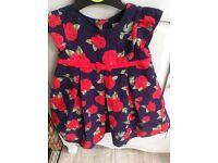 Baby Dress - Designer Jo Jo Maman Bebe 6-12 months