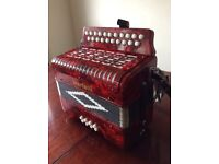 Scarlatti 2 row, 8 base button key accordion