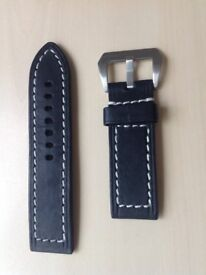 Panerai custom made by europelli by hand leather watch strap 24mm