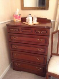 Bedroom cabinets, tall boy & wardrobe in great condition, sold separately or together