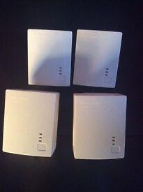 4 TP-Link TL-PA411 AV500 500 Mbps Powerline Adapters - Homeplug Network
