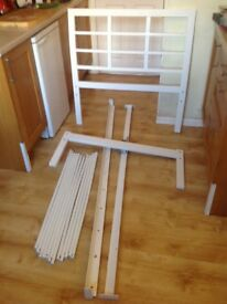 For sale white single bed