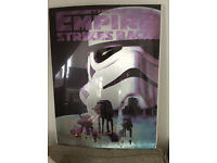 2 x New Large Star Wars Pictures, ideal as a present