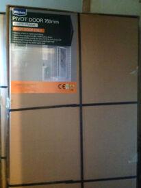 Wicks Pivot Shower Door and 760 x 760 GRP shower tray