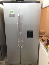 Beko American fridge freezer with drinks dispsner. £499. New/graded 12 month Gtee.