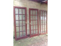 Glazed internal doors.