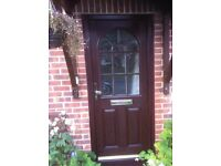 BROWN UPVC FRONT DOOR