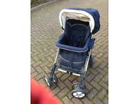 Silver Cross Travel System. Pram, push chair and baby car seat.