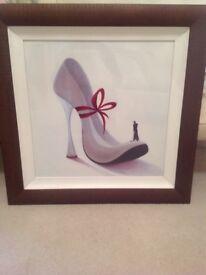 Cream Stiletto Shoe Picture