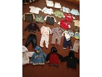 Huge bundle baby boys 6-9mth clothing incl vests, incl Next TU ladybird Disney Mothercare m&s etc