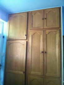 Set of 17 Reclaimed Solid Oak Kitchen Pantry Cupboard Cabinet Doors / Can Deliver