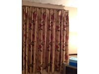3 matching curtains, used