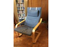 Chair, Ikea, dark grey fabric, good condition