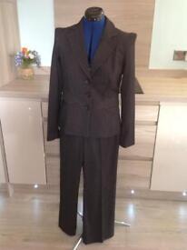 Ladies pinstriped suit