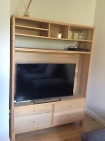 Solid wood large TV unit