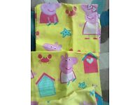Peppa pig curtains and matching duvet