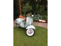 Vespa VBA150 Year 1959 Fully Restored (210 Molossi Kit) Registered as a 125cc