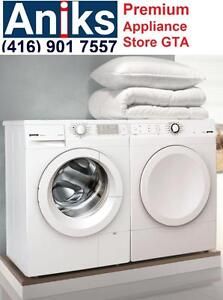 """Gorenje W7443L and D722CM 24"""" European Washer and Vented Dryer Machine White on Sale at aniks appliances"""