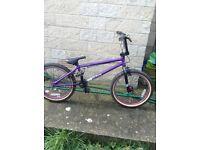 Good condition purple Bmx bike