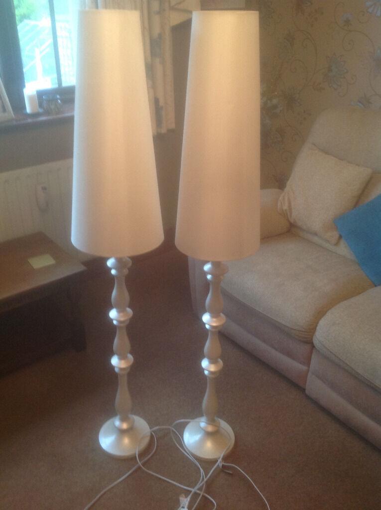 Boudoir Turned Wooden Floor Lamps