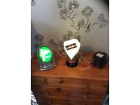 Two collectable bar lights and convertor