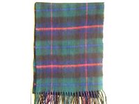 TWO VGC Tartan Unisex Full Length Scarves (Black Watch & Buchannan?)